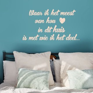 Wall Sticker - I love most in this house - 2