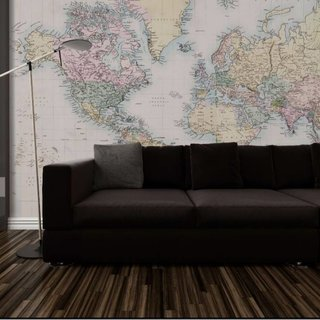 Self-adhesive photo wallpaper custom size - World Map Vintage 2