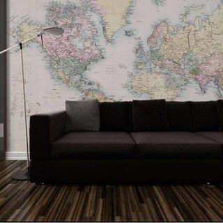 Self-adhesive photo wallpaper - World Map Vintage 2