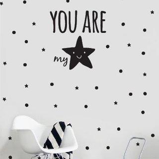 Wandaufkleber - Du bist mein Stern