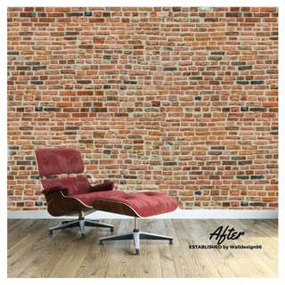 Self-adhesive photo wallpaper custom size Stones - Medieval Brick Design