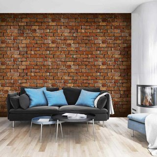 Self-adhesive photo wallpaper custom size - Brick Classic Design