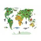 Wall Decal World Map Children
