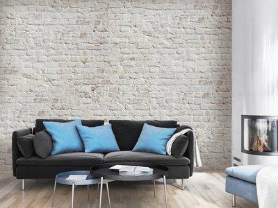 Wandstein - Ziegel Weiß Retro-Design