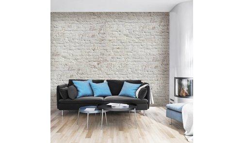 Self-adhesive photo wallpaper custom size Stones - Brick White Retro design