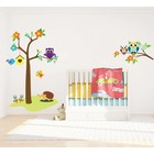 Wall Sticker Tree with Owls & Branch