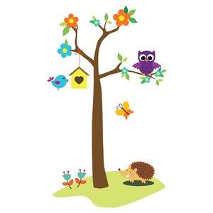 Wandaufkleber Baum mit Eulen u Ast