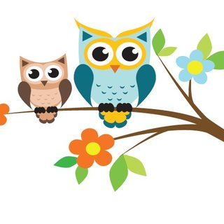 Wall Sticker - Branch with owls