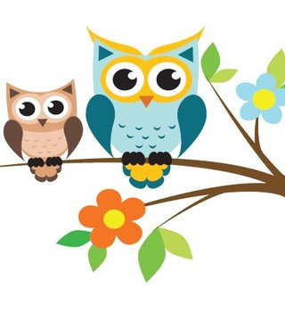 Wall Sticker Branch with owls