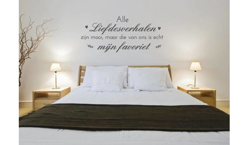Wall Sticker - All love stories are beautiful