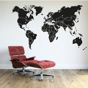 Wandaufkleber Weltkarte Ländergrenzen