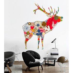 Wall Sticker Deer Vintage