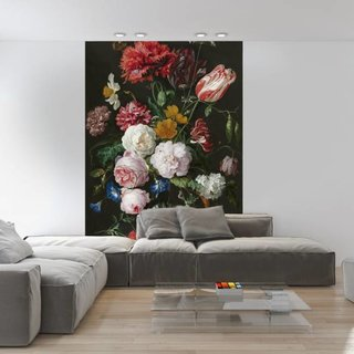 Self-adhesive photo wallpaper custom size - Still life with flowers in a glass vase - Jan Davidsz de Heem