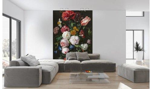 Self-adhesive photo wallpaper custom size - Still life with flowers in a glass vase - Jan Davidsz de Heem