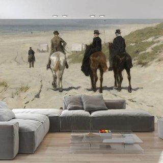 Selbstklebende Fototapete angepasst - Morgenfahrt am Strand entlang - Anton Mauve