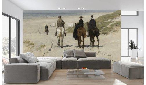 Self-adhesive photo wallpaper custom size - Morning ride along the beach - Anton Mauve