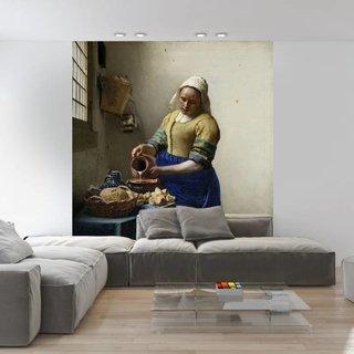 Selbstklebende Fototapete angepasst  - Die Milchmädchen - Johannes Vermeer