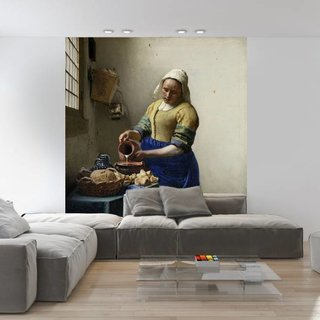 Self-adhesive photo wallpaper custom size - The Milkmaid - Johannes Vermeer