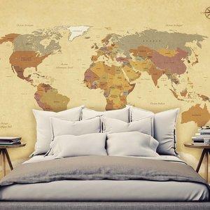 Mural Vintage World Map