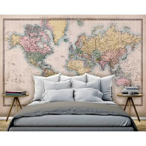 Mural Weltkarte Jahrgang 2