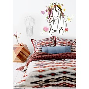 Wall Sticker Horse with flowers