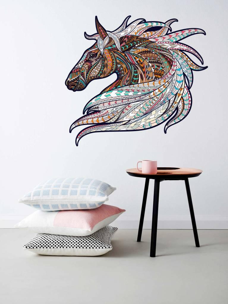 Paarden Sticker Muur.Muursticker Paard Vintage Design Walldesign56 Com