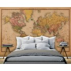 Mural World Map Vintage 2 - Sepia