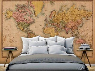 Mural Weltkarte Vintage 2 - Sepia
