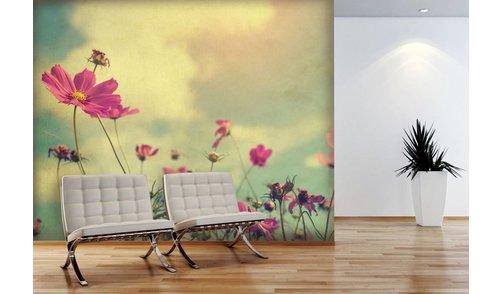 Mural Cosmos Blumen-Weinlese