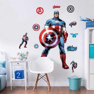 Muursticker - Captain America
