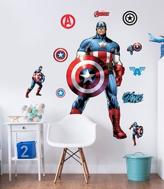 Muursticker Captain America