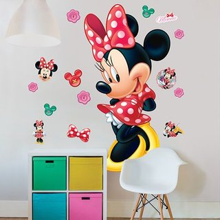 Muursticker - Disney Minnie Mouse