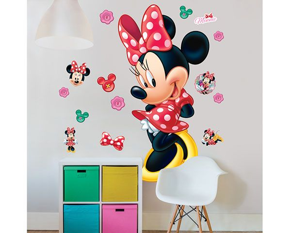 Stickers Kinderkamer Disney.Wall Sticker Disney Minnie Mouse Walldesign56 Wall Decals