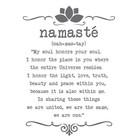 Wandaufkleber Yoga Namaste Text