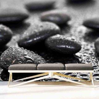 Selbstklebende Fototapete angepasst - Schwarzen Steinen