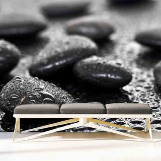Self-adhesive photo wallpaper custom size -  Black Stones