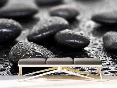 Mural black stones