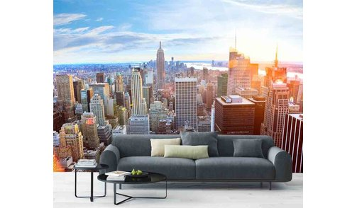 Zelfklevend fotobehang op maat - Skyline Manhattan - New York