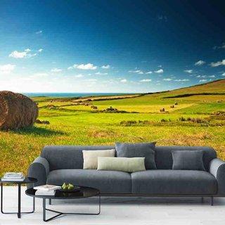 Zelfklevend fotobehang op maat - Green Fields