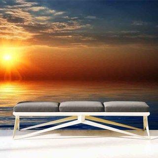 Selbstklebende Fototapete angepasst -  Sonnenuntergang am Strand