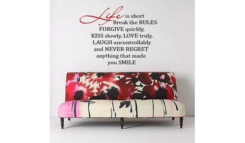 Wall Sticker - Life is Short