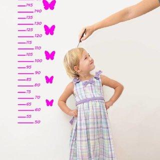 Muursticker Meetlat voor kids - Met je eigen NAAM