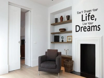 Muursticker Don't Dream your life