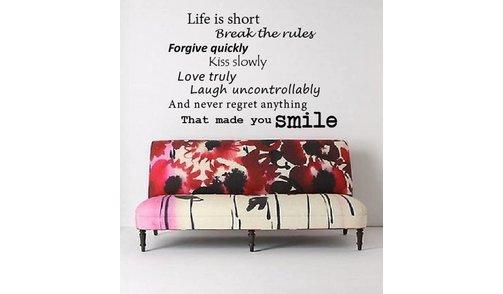 Muursticker Life is Short 2