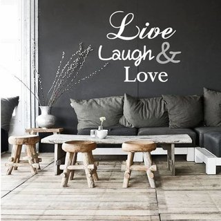 Muursticker - Live Laugh Love