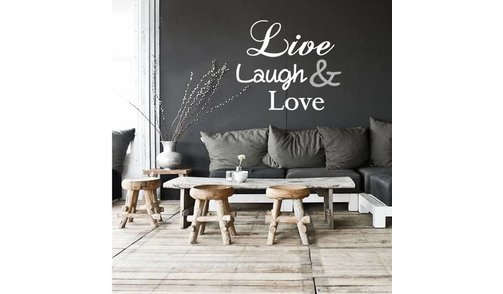 Muursticker - Live Laugh Love