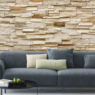 Self-adhesive photo wallpaper custom size - Riverside Stone Beige