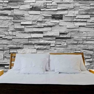 Self-adhesive photo wallpaper -  Stones Riverside Stone Grey