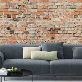Zelfklevend fotobehang op maat - Stenen Brick Wall