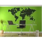 Wall Sticker World Map Blocks